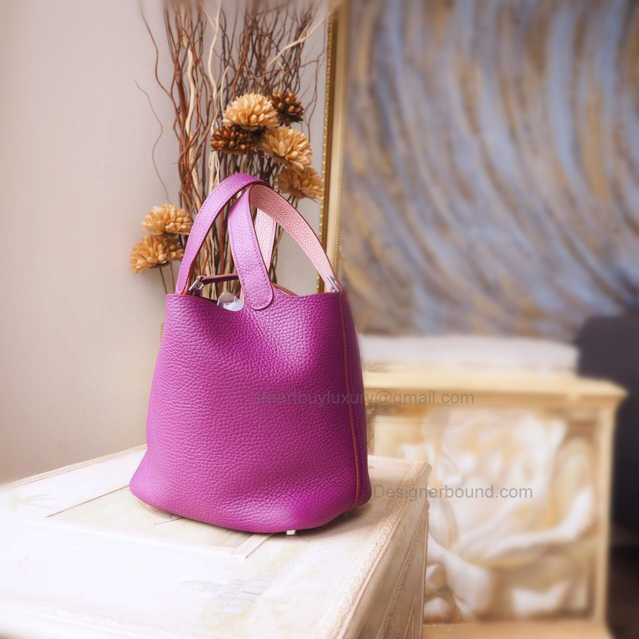 Replica Hermes Picotin Lock 22 Bag Handmade in Bicolored p9 Anemone Clemence