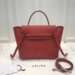 Replica Celine Mini Belt Bag in Hot Red Epsom Calfskin