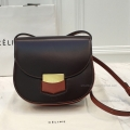 Celine Small Trotteur Chacolat and Brown Shoulder Bag