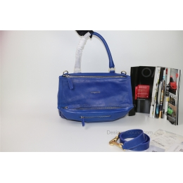 Givenchy Pandora Large Handbag in Blue Lambskin
