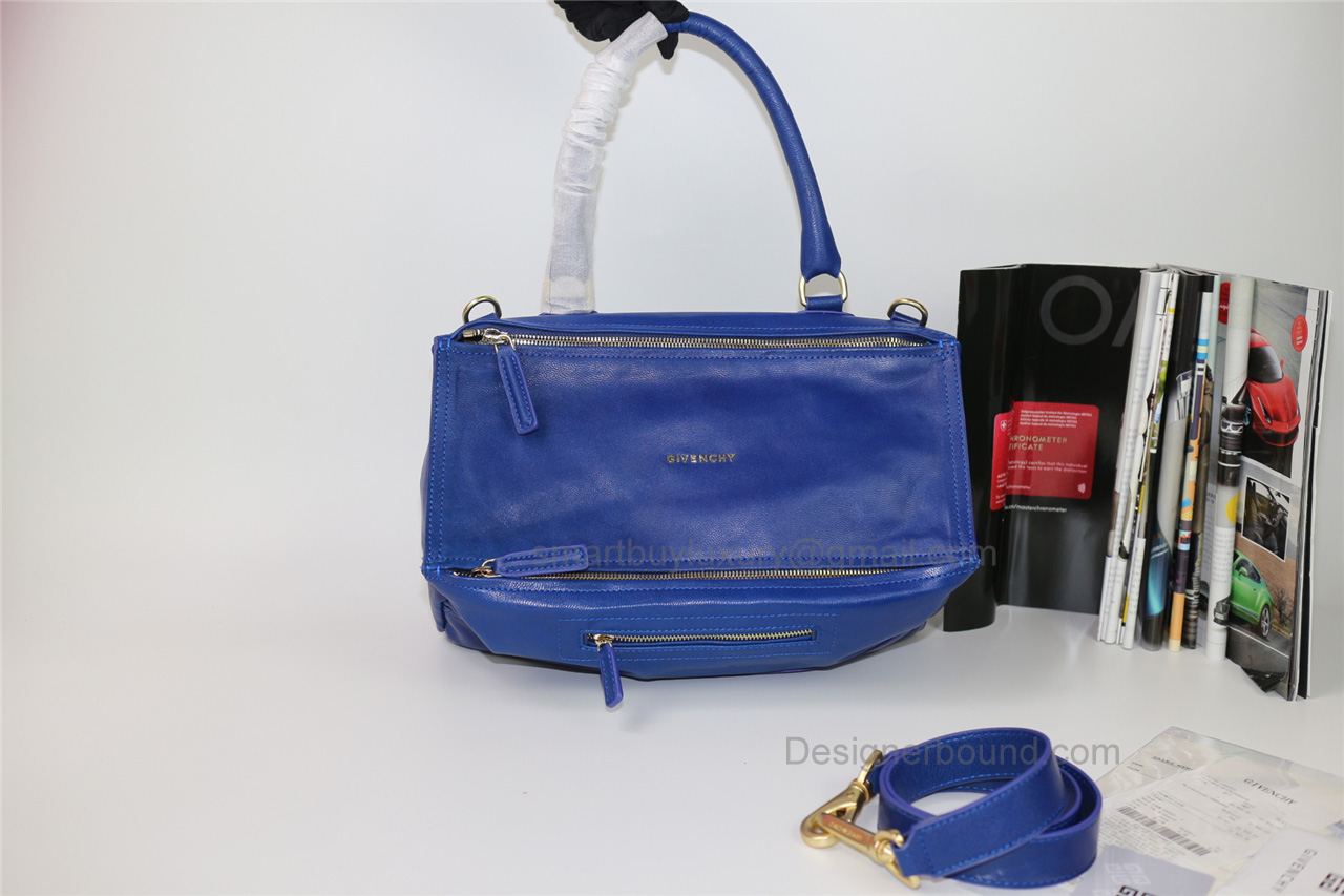3606626a217b Givenchy Pandora Large Handbag in Blue Lambskin