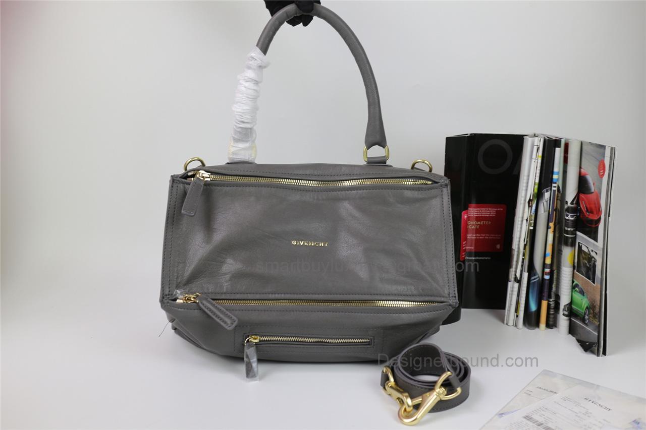 Givenchy Pandora Large Handbag In Grey Lambskin