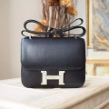 Hermes Mini Constance 18 Bag Hand Stitched in ck89 Noir Swift Calfskin PHW