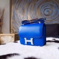 Replica Hermes Mini Constance 18 Bag in 7t Blue Electric Swift Calfskin PHW