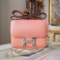Hermes Mini Constance 18 Bag Hand Stitched in 3L Rose Tea Swift Calfskin PHW