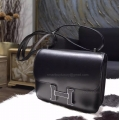 Hermes Mini Constance 18 Bag Hand Stitched in ck89 Noir Box Calfskin PHW