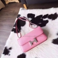 Copy Hermes Constance Elan 25 Bag Hand Stitched in 5p Pink Epsom Calfskin PHW