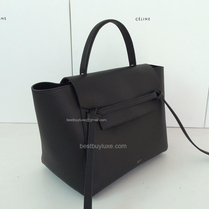 celine replica bags - High Replica Celine Medium Belt Bag Grain Leather Black - Replica ...