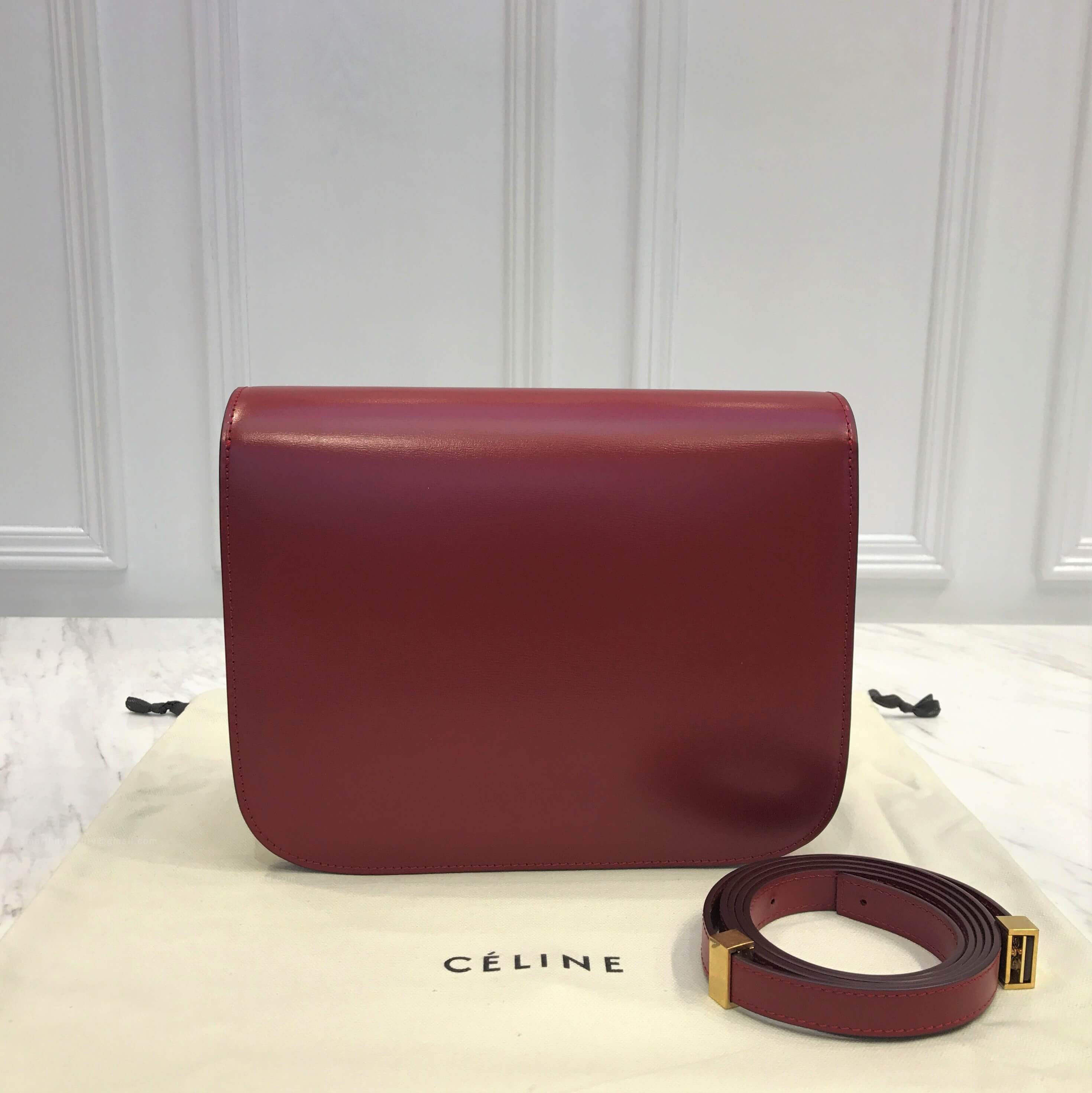 bdc675f0d420 ... Celine Classic Box Bag Medium in Dark Red Liege Calfskin - online store  69bb4 c3f07 ...
