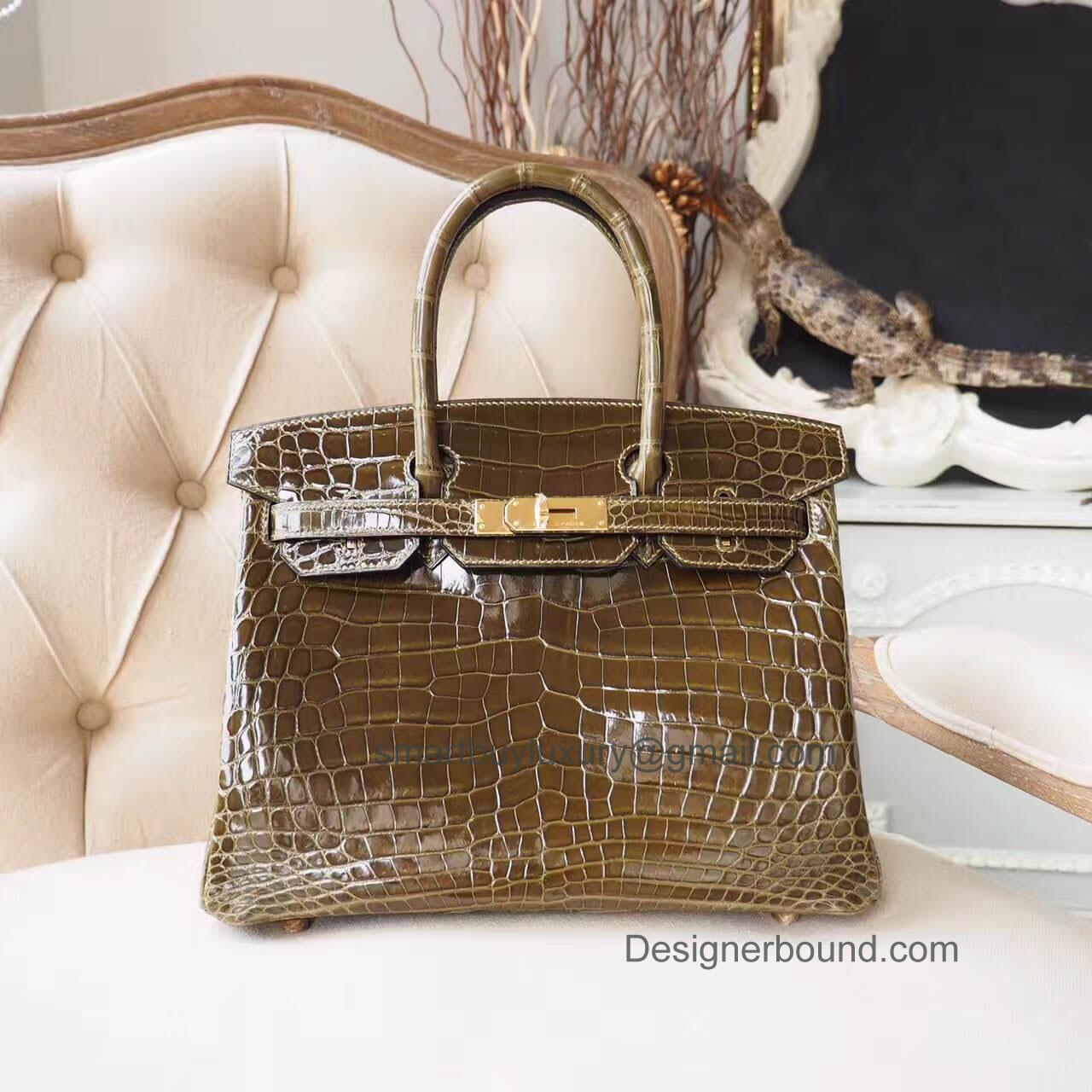 07b46f6165 Hermes Birkin 30 Bag in 6h Veronses Shiny Nile Croc GHW