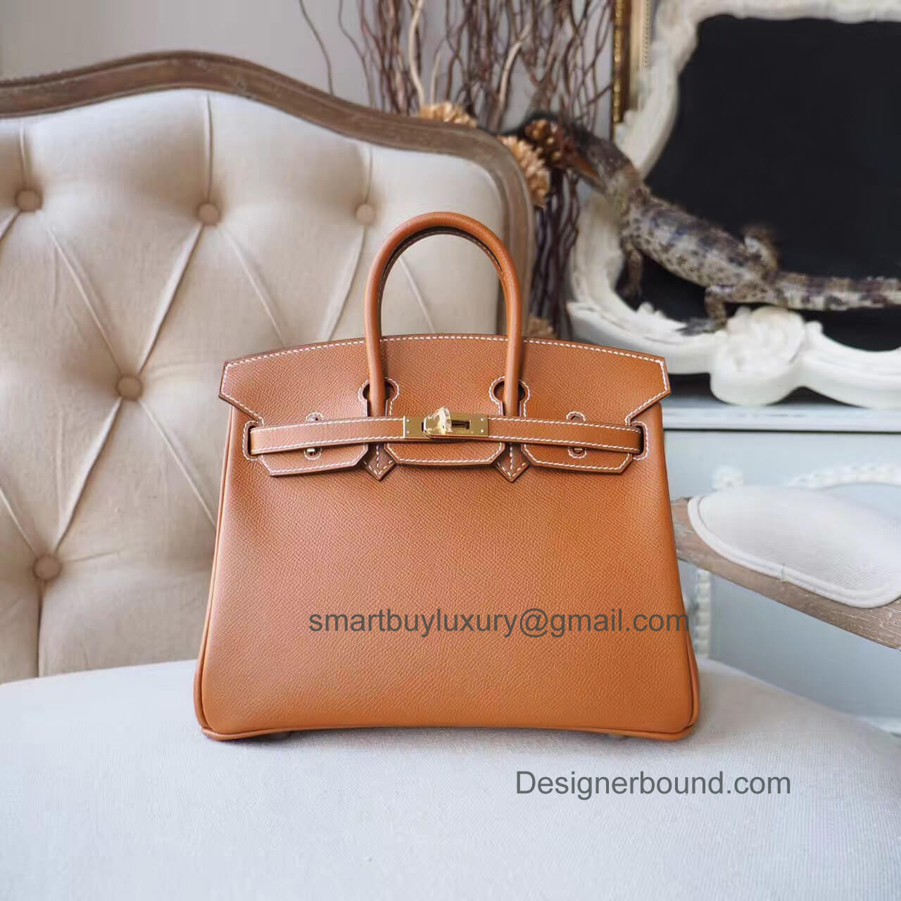 Hermes Birkin 25 Bag in ck27 Gold Epsom GHW
