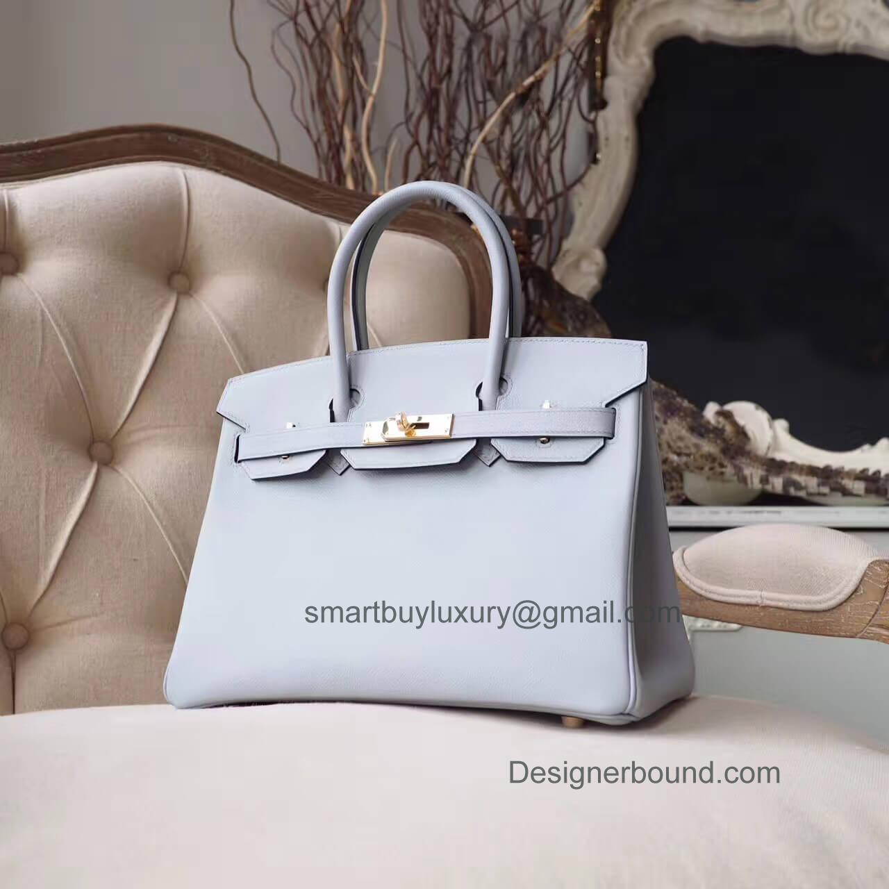 fd64298e1a99 Hermes Birkin 30 Handbag in 4z Gris Mouette Epsom GHW - Hermes Replica