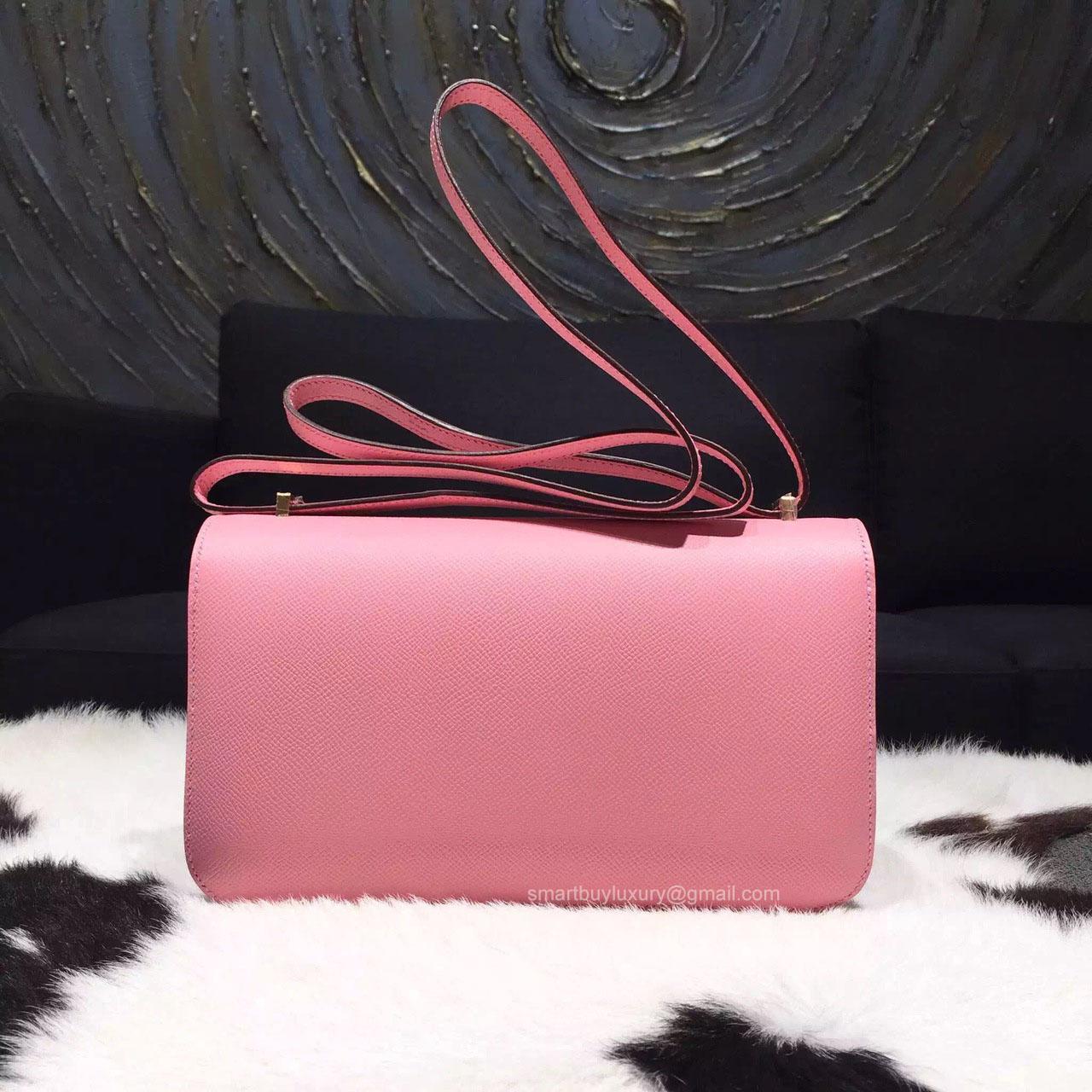 hermes kelly birkin bag - Hermes Constance Elan 25 Bag Rose Confetti 1Q Epsom Leather ...