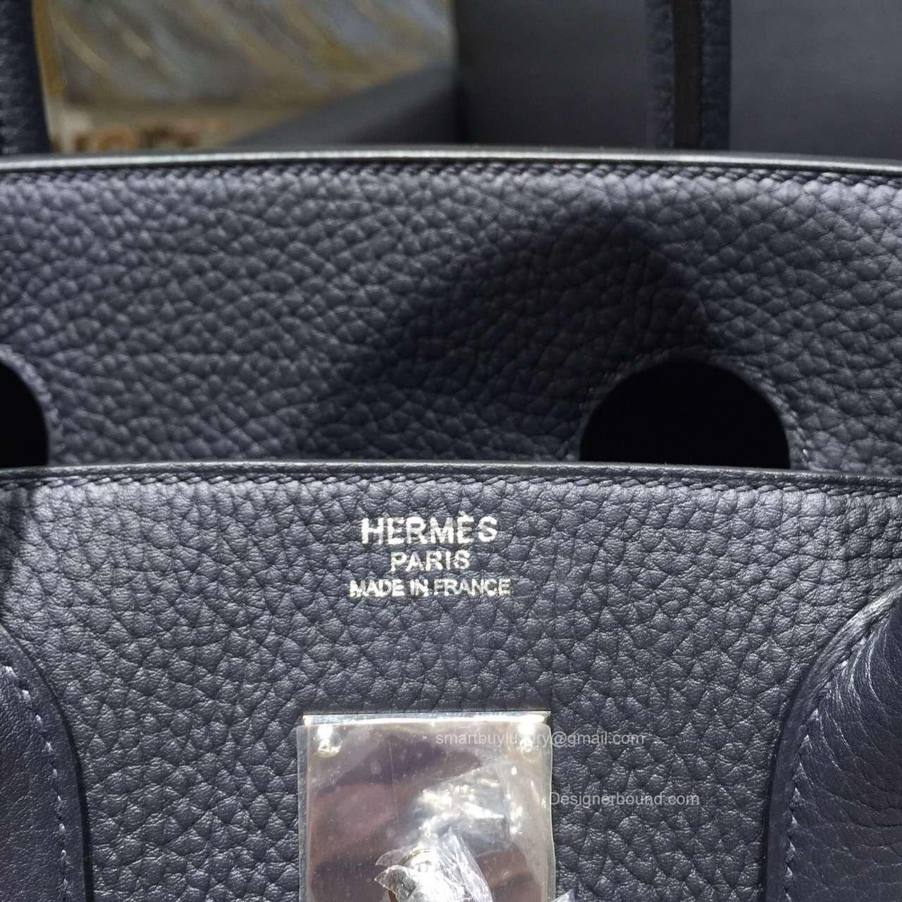 3fadad6324b Hermes Birkin Hac 40 Bag Blue Indigo ck76 Togo Leather .
