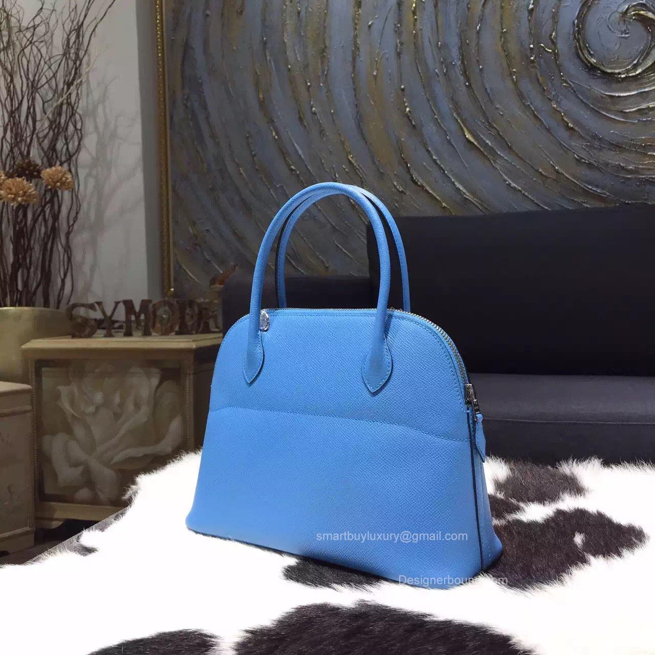 Hermes Bolide 27 Bag Blue Paradise 2t Epsom Leather
