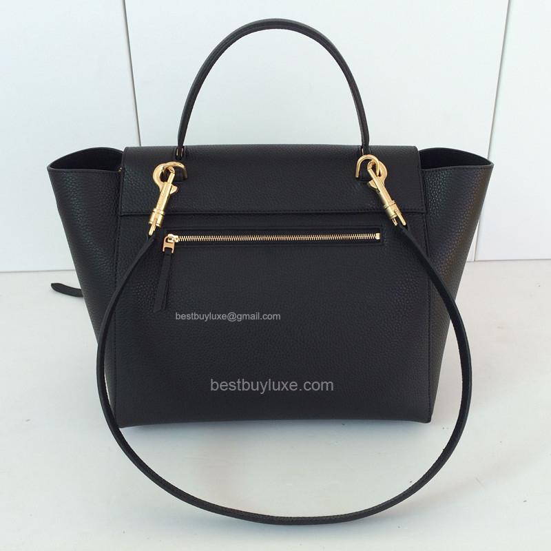 d75daf59c13c High Replica Celine Medium Belt Bag Grain Leather Black - Replica Celine