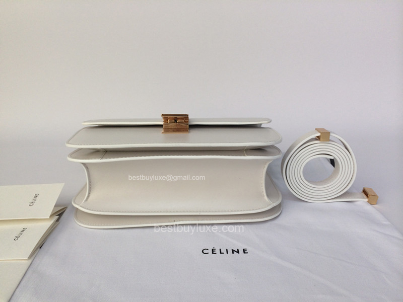 authentic celine luggage tote - Mirror Image Quality Replica Celine Medium Classic Bag White ...