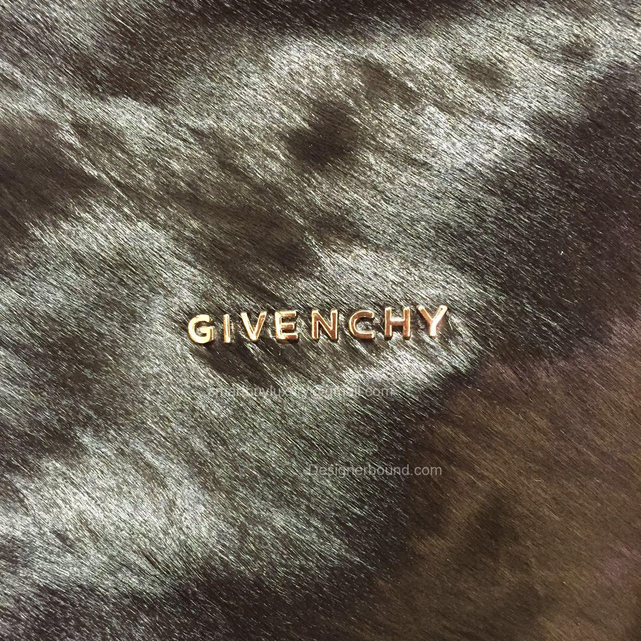 b288b2680318 Givenchy Large Pandora Black Bag with Pony Hair 285165. GIVENCHY ...