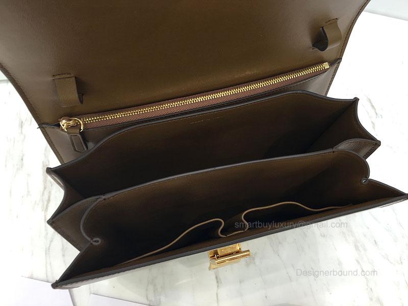 ee1142dc1d Super Fake Celine Medium Classic Box Bag in Wood Textured Calfskin