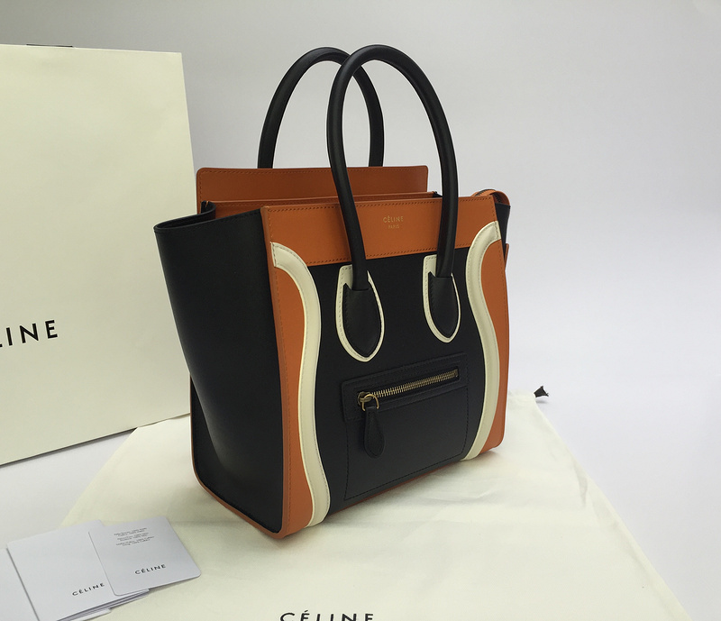 celine shoes and bags - CELINE Smooth Calfskin Micro Luggage Black