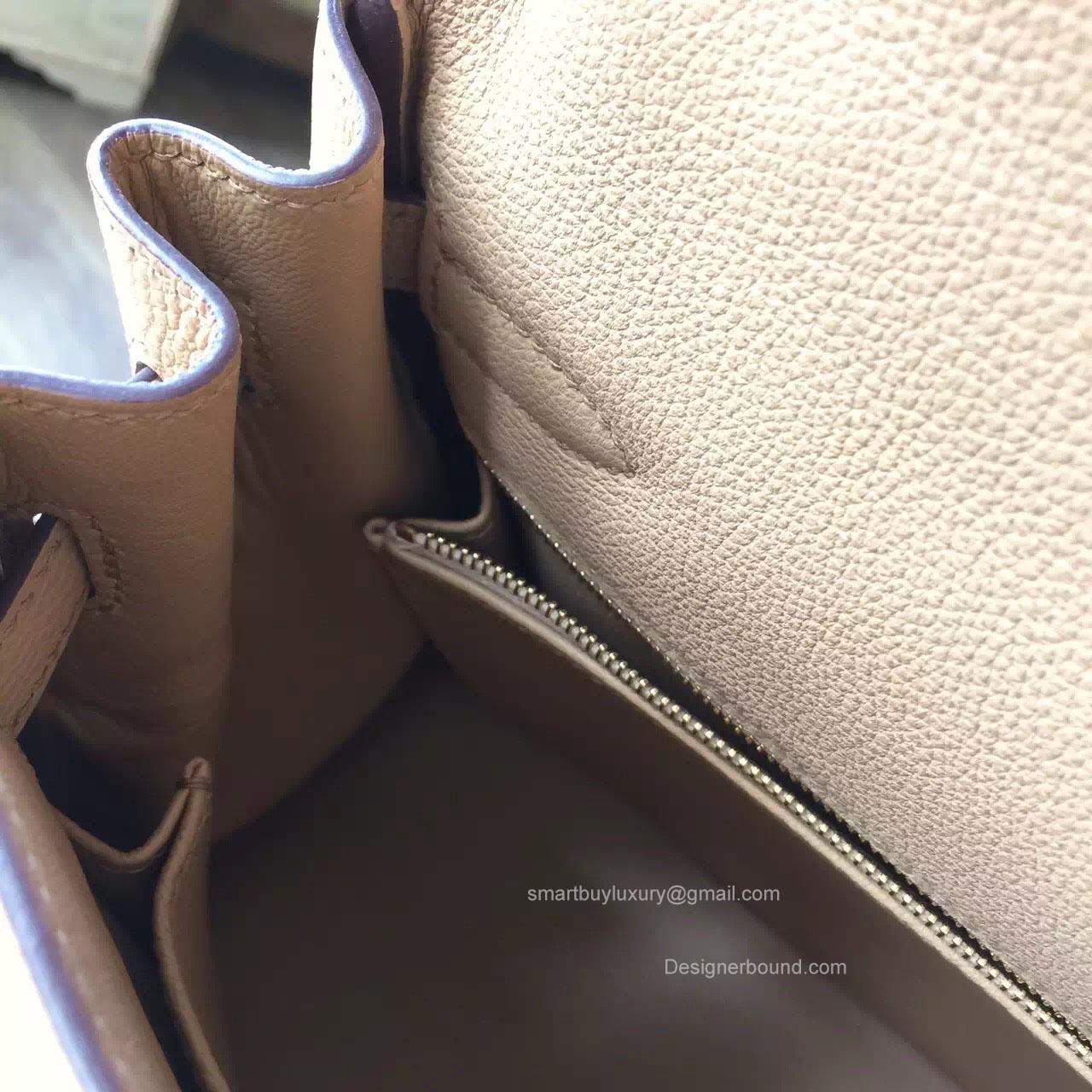 Hermes Kelly 28 Tabac Camel CK24 Togo Leather Handstitched Silver hw -
