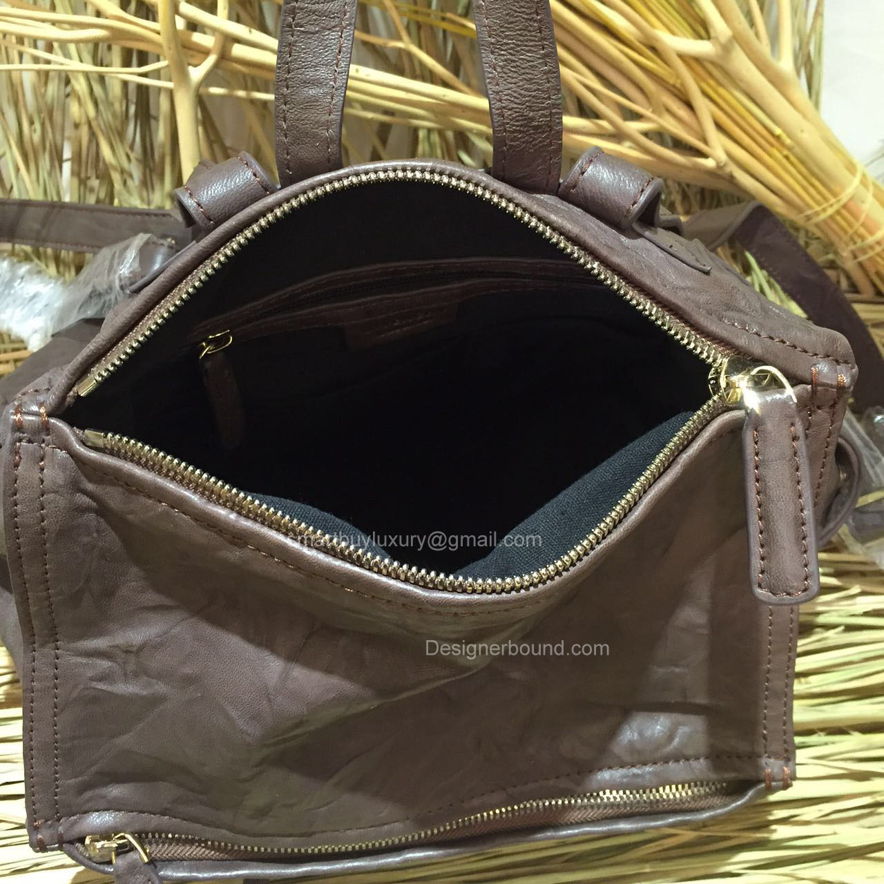 3c4cdec03ff9 GIVENCHY PANDORA WRINKLED LAMBSKIN BACKPACK COFFEE 286135  299.00
