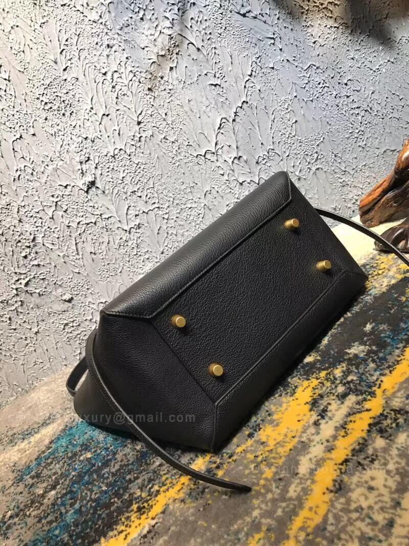 d1025fbe0c89 Celine Mini Belt Bag in Black Goatskin -