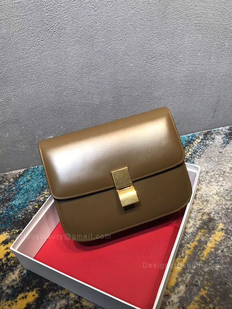Celine Classic Box Bag Medium in Camel Liege Calfskin