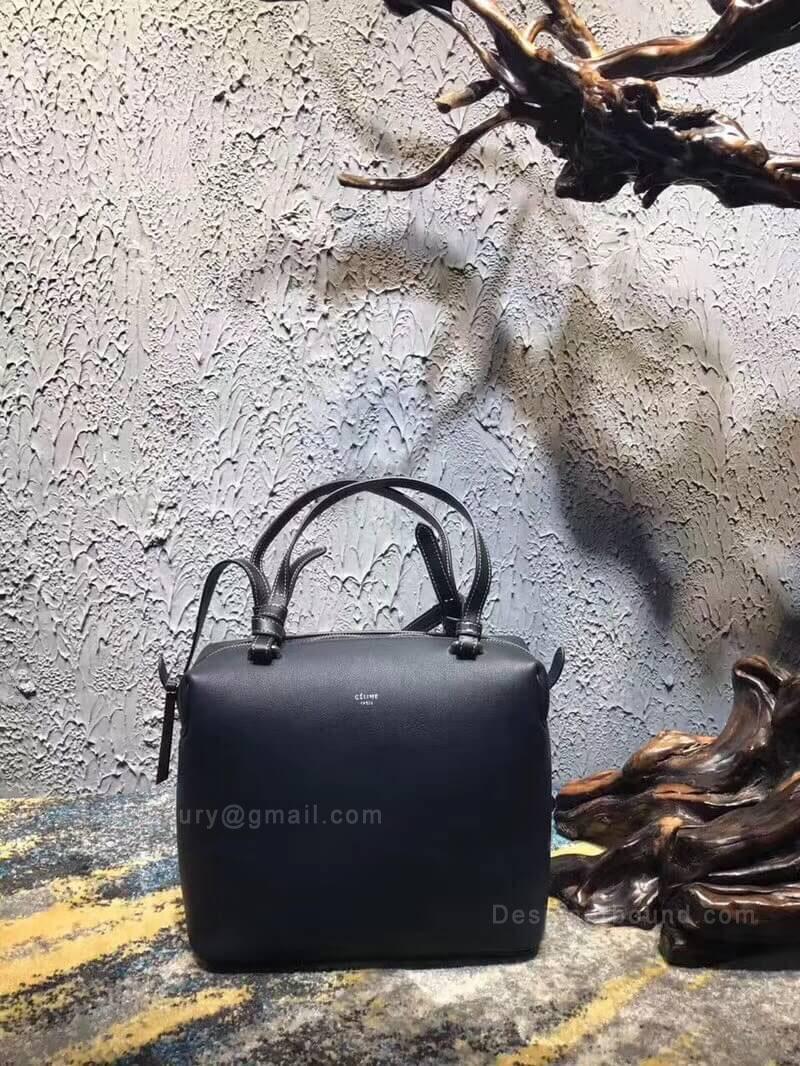 Celine Small Soft Cube Bag in Black Smooth Calfskin 12da156872356
