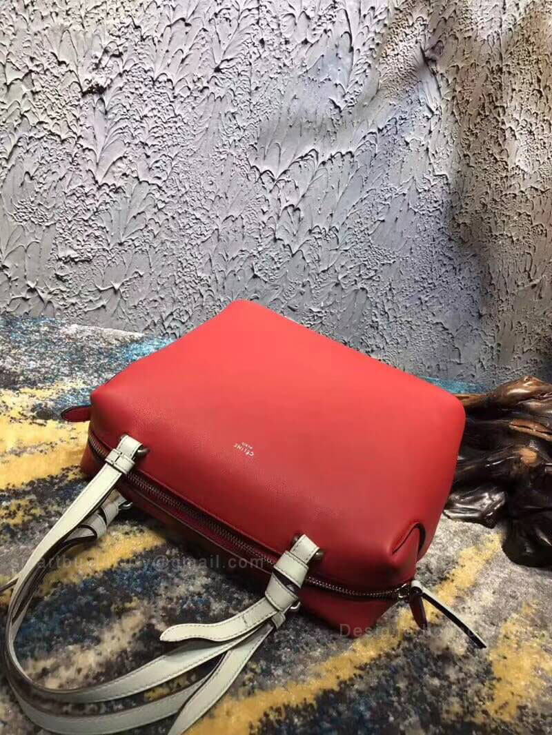 Celine Small Soft Cube Bag in Red Smooth Calfskin - Celine Replica 4aa15cac52fe4