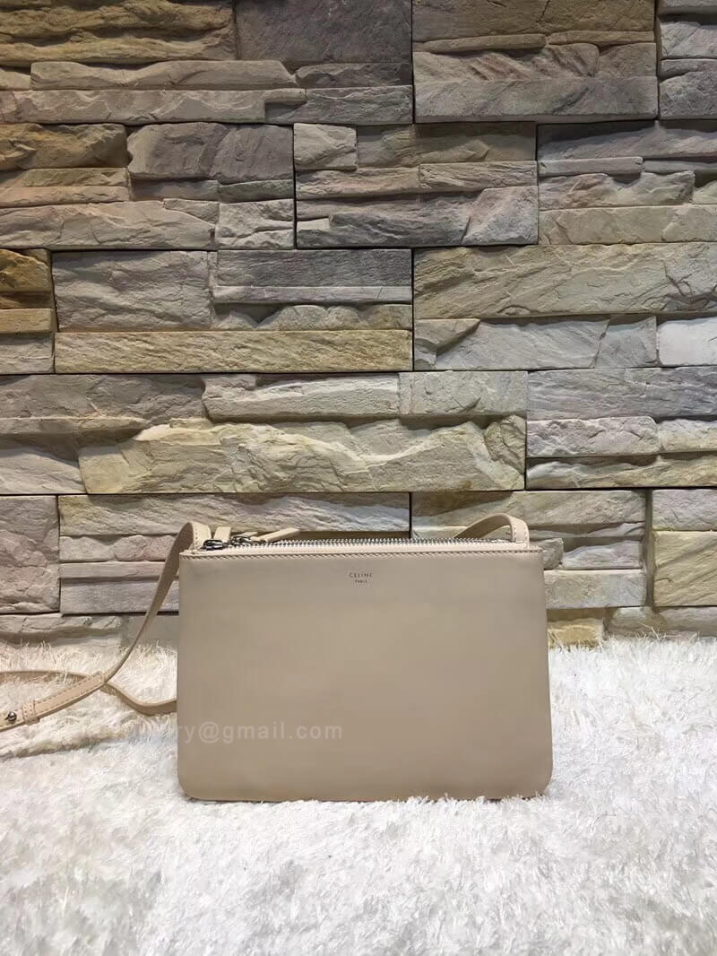 Celine Trio Bag in Nude Smooth Lambskin