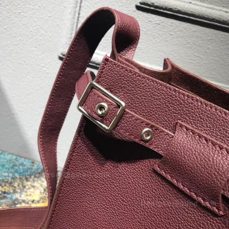 f9826c847 CELINE BIG BAG BUCKET WITH LONG STRAP IN BURGUNDY SUPPLE GRAINED CALFSKIN  $456.00. FREE Shipping!