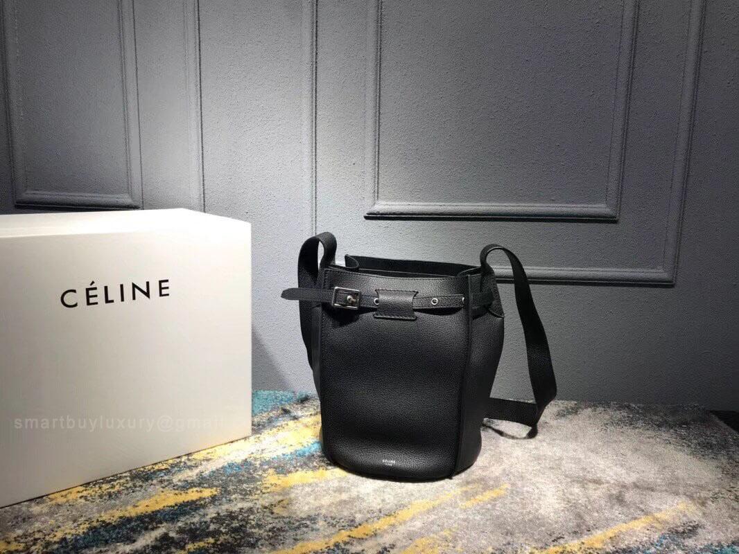 d7eebe9b006b Celine Big Bag Bucket With Long Strap in Black Supple Grained Calfskin