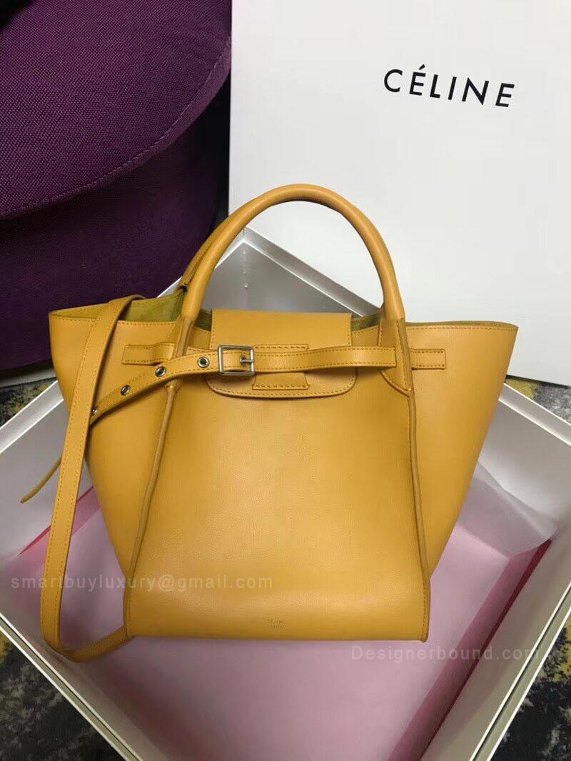 b5d591fe495f Celine Small Big Bag in Sunflower Soft Bare Calfskin - Celine Replica