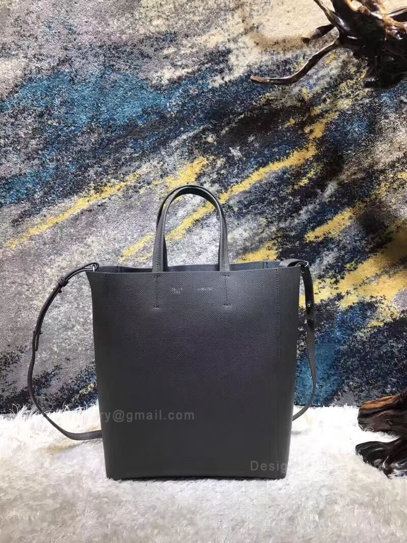 Celine Small Cabas in Gray Grained Calfskin