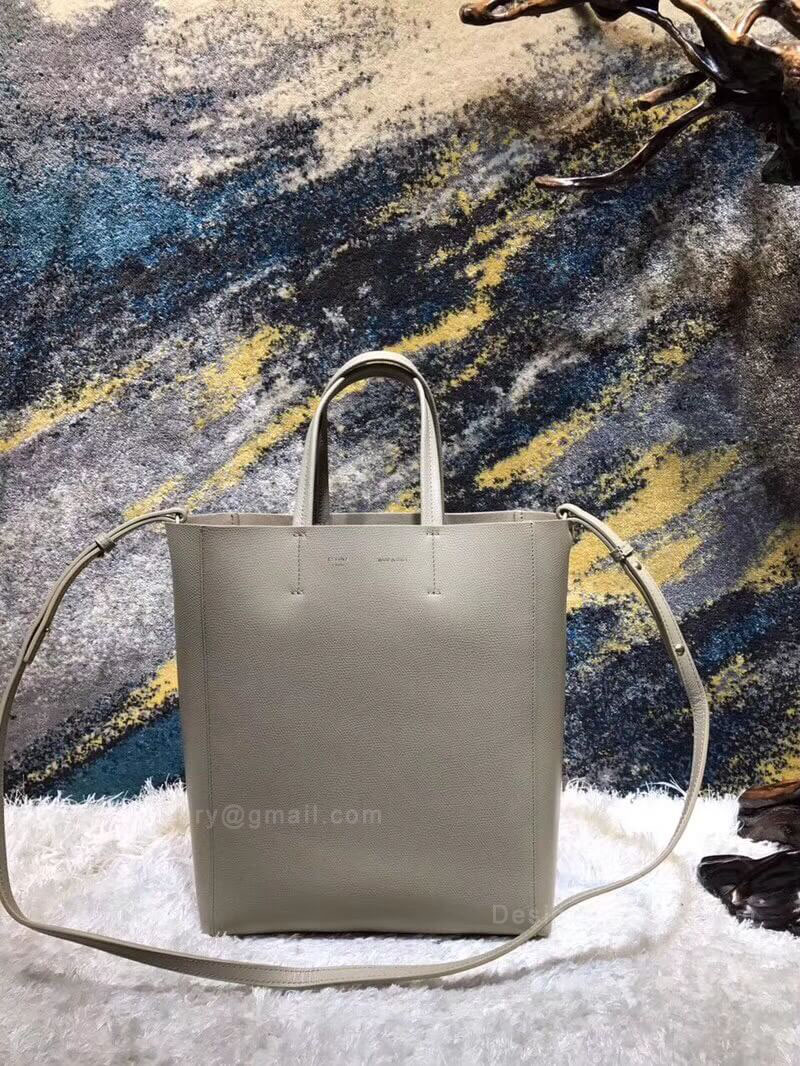 Celine Small Cabas in Light Taupe Grained Calfskin