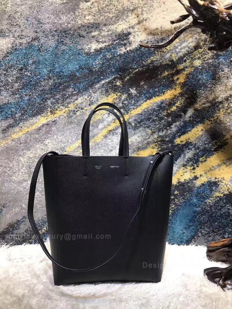 Celine Small Cabas in Black Grained Calfskin