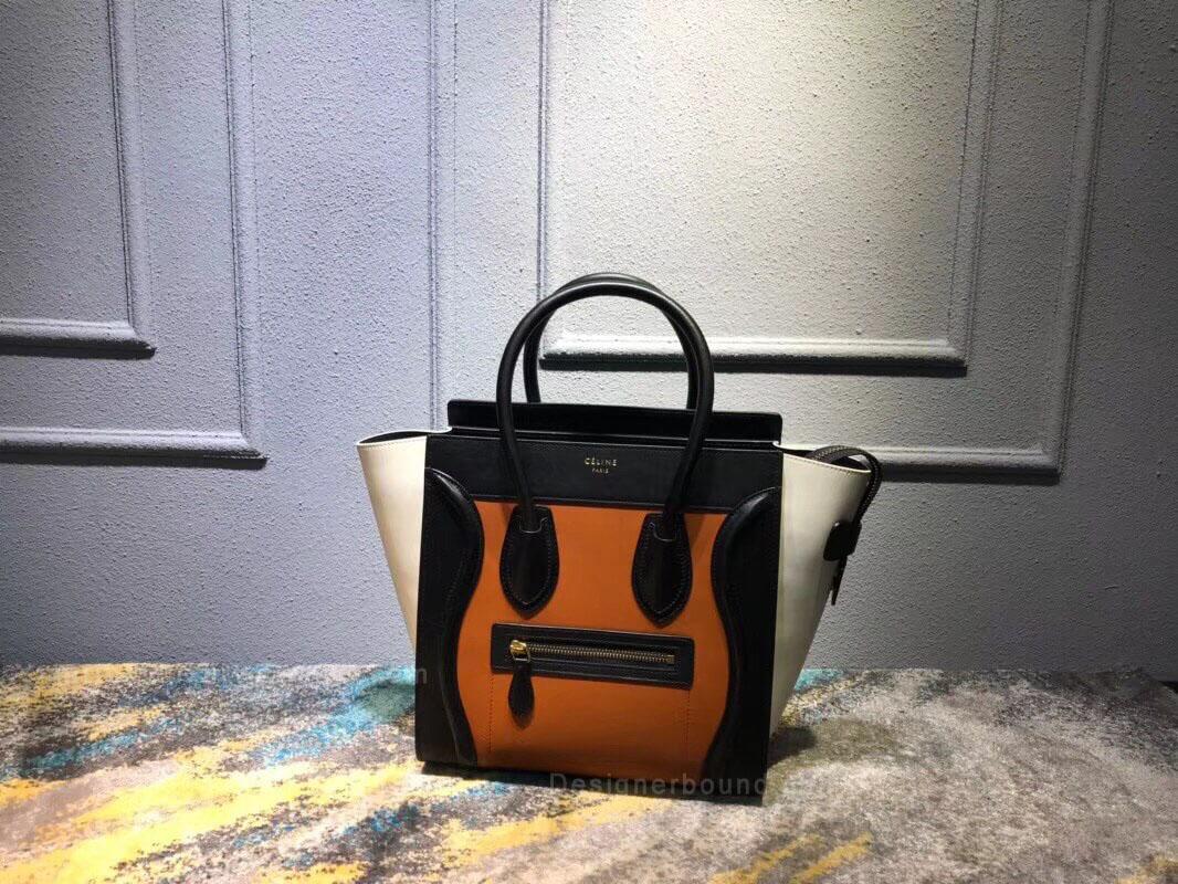 fa5970e13458 Celine Micro Luggage Handbag in Baby Blue Calfskin - Replica Celine