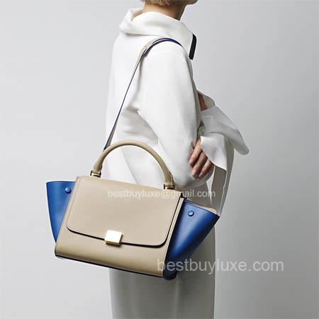 Mirror Image Celine Mini Trapeze Handbag in Blue Multicolour ...