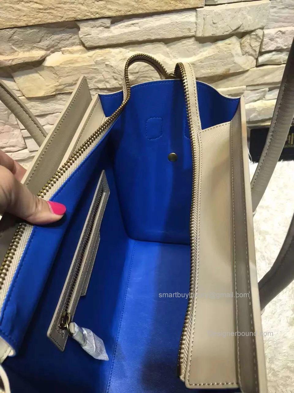 celine micro luggage light grey
