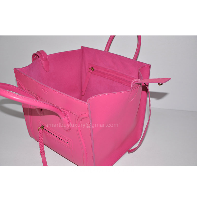 celine mini luggage tote bag - Hot Pink Celine Phantom Luggage Replica Bag in Real Calfskin ...