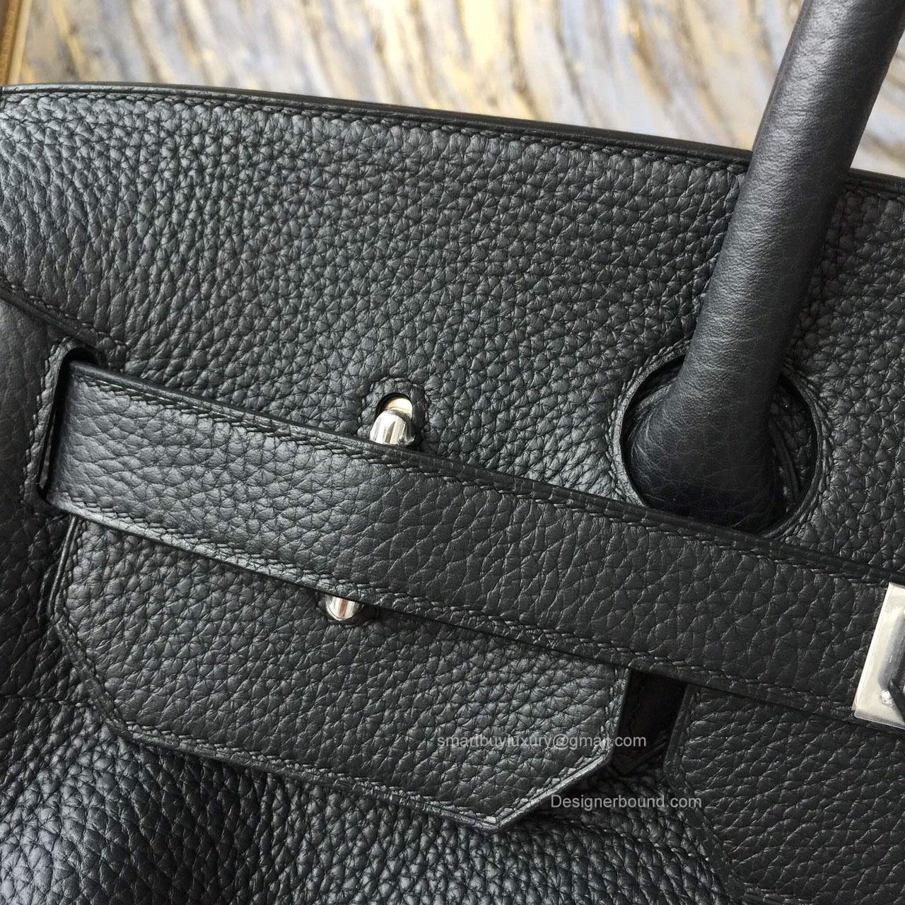 Hermes Birkin Hac 40 Bag Black Togo Leather Handstitched Silver hw - b4a2d4dd74e85