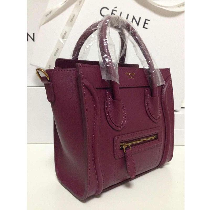 new arrival 7944e 681b9 Celine Nano Luggage Burgundy | Mount Mercy University