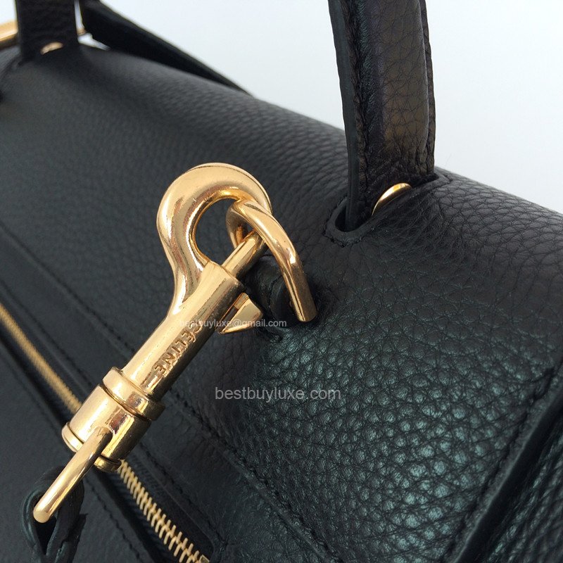 High Replica Celine Medium Belt Bag Grain Leather Black - Replica ...