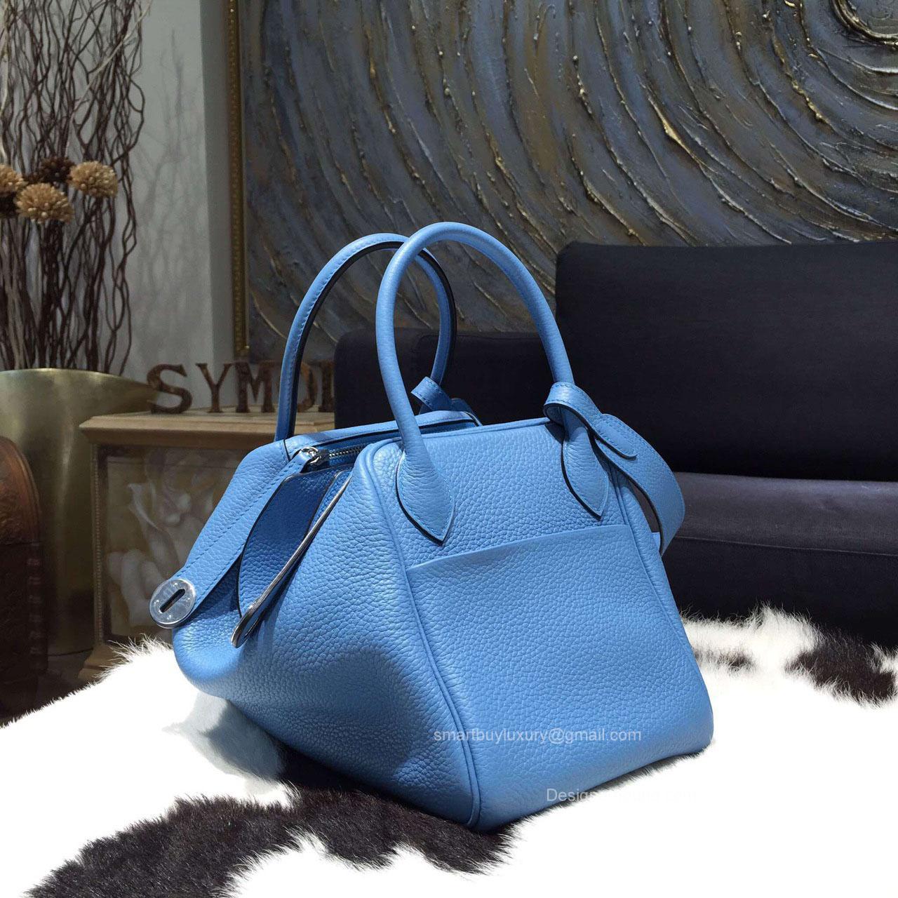 hermes indy blue jean clemence 30 bag