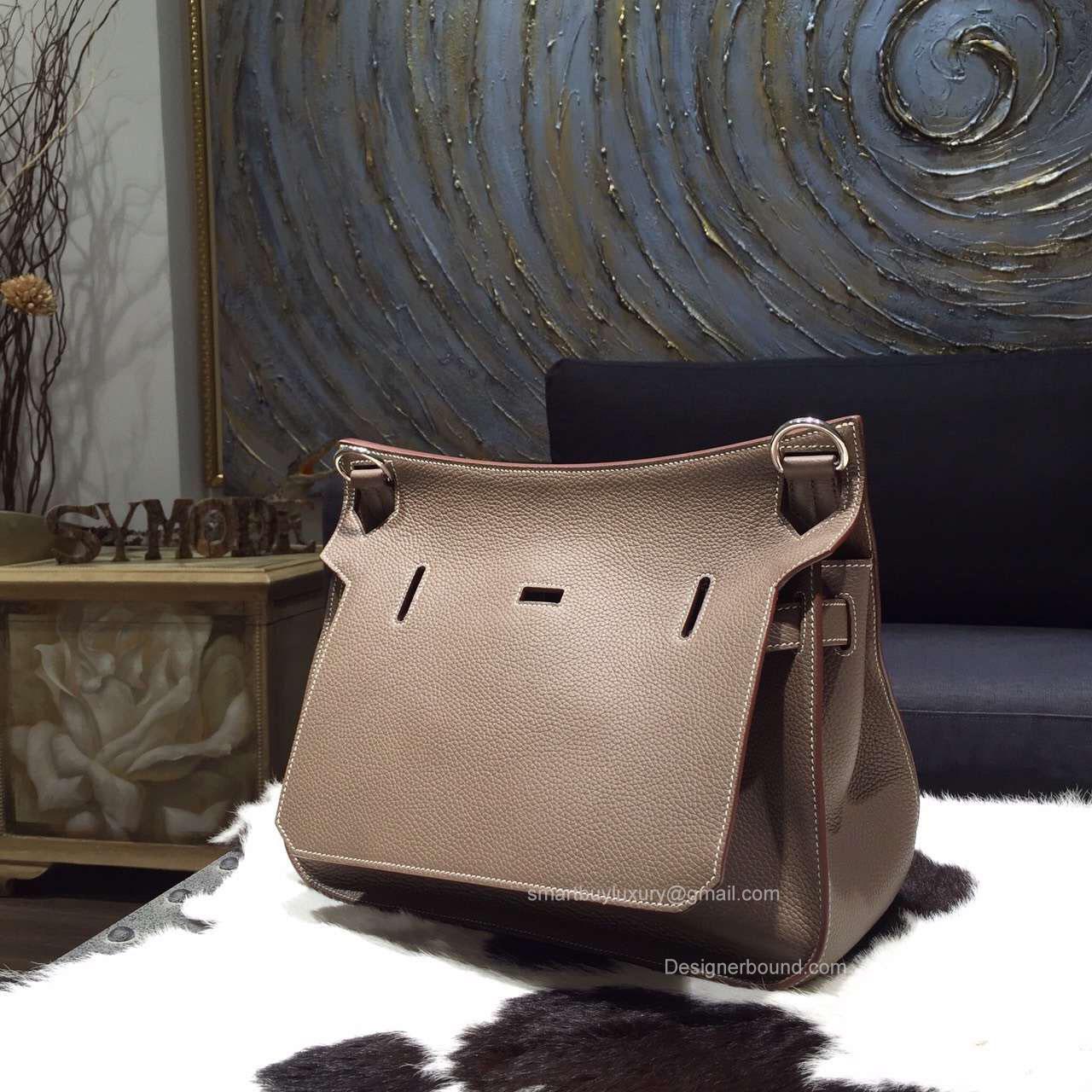 best hermes birkin color - Hermes Jypsiere 28 Bag Etoupe CK18 Taurillon Clemence Handstitched -