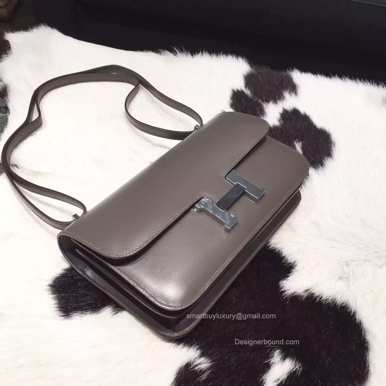 herme birkin - Hermes Constance Elan 25 Bag Graphite Box Leather Handstitched ...