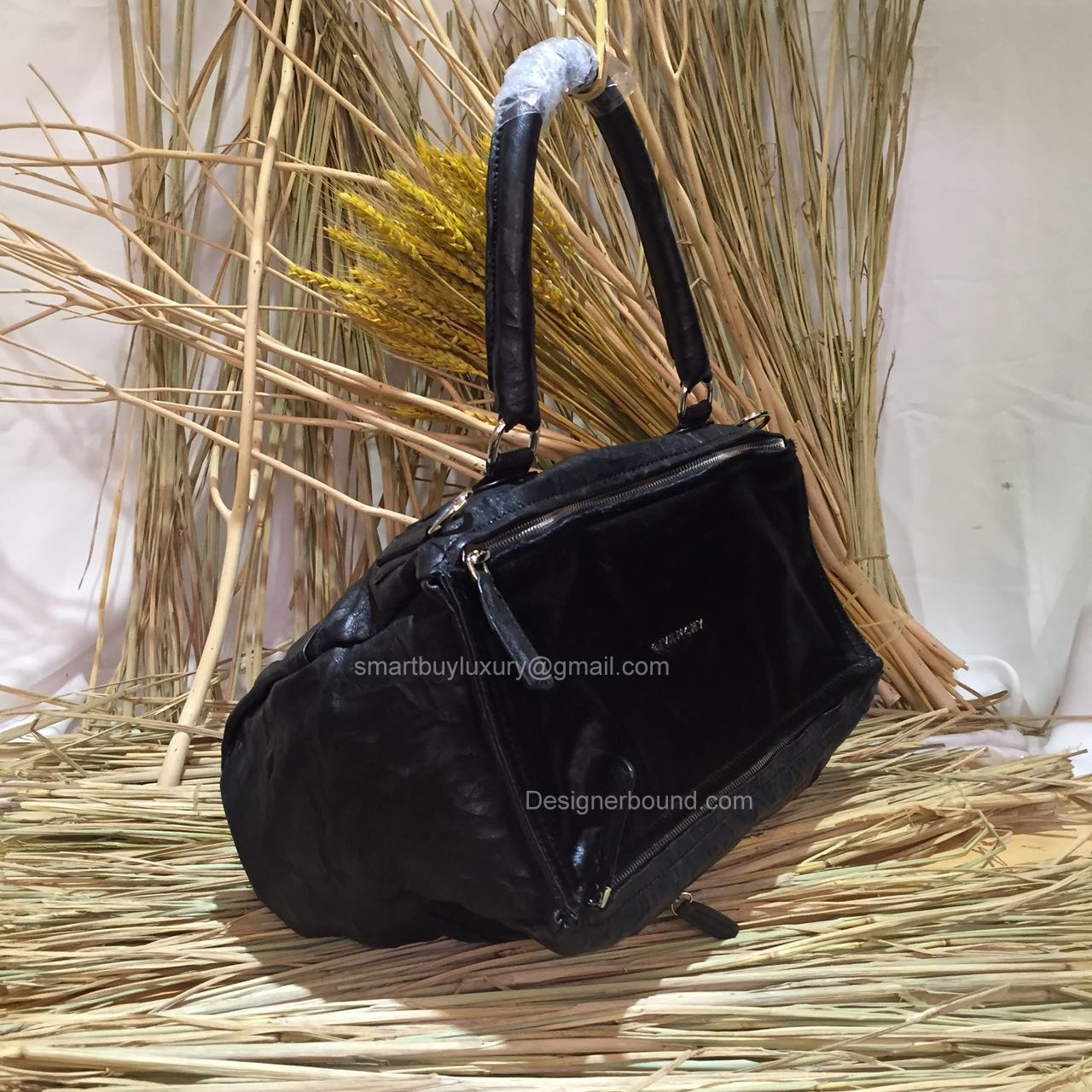 88c5c7ded797 GIVENCHY LARGE PANDORA BLACK BAG WITH PONY HAIR 285165  297.00