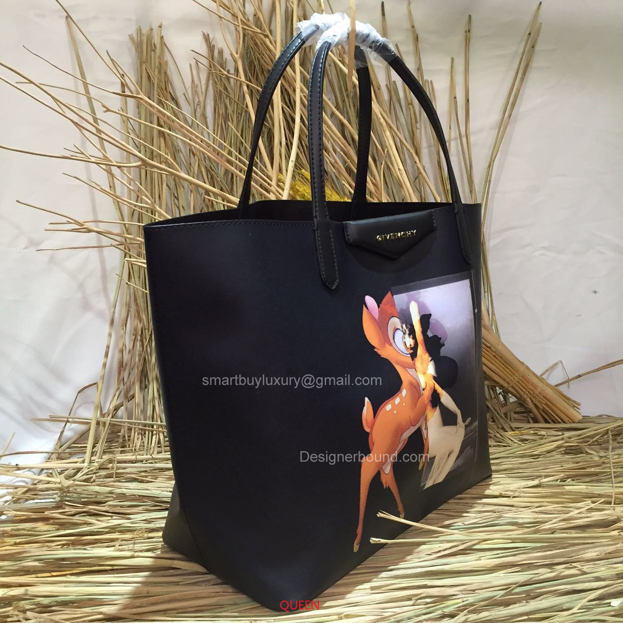 6fc12425db Givenchy Antigona Small Bambi Print Shopping Tote Black -