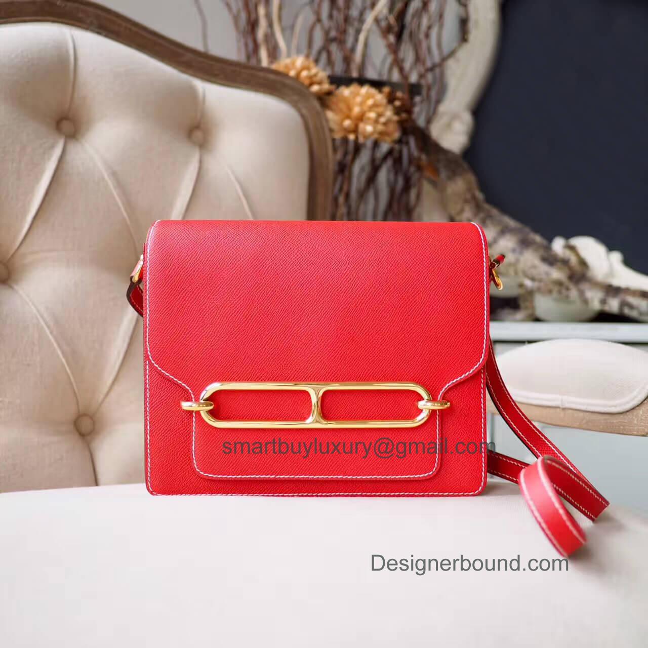 4418ba26bf Hermes Constance Elan 25 Bag in q5 Rouge Casaque Epsom GHW - Hermes ...